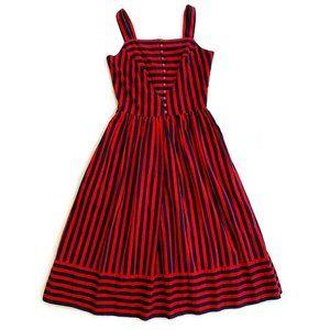 Vintage Lanz Originals Striped Dress